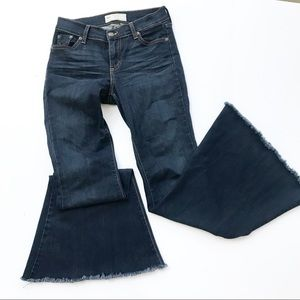 Free People Flare Bell Bottom Blue Jeans 27